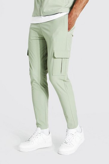 Sage green Tailored Cargo Pant
