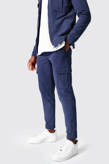 Blue Tailored Cargo Pant