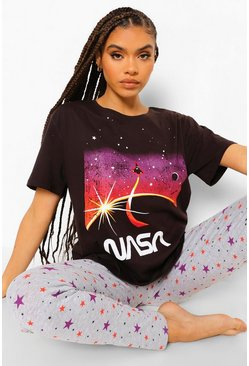 Grey Nasa Sterrenprint Pyjama Set