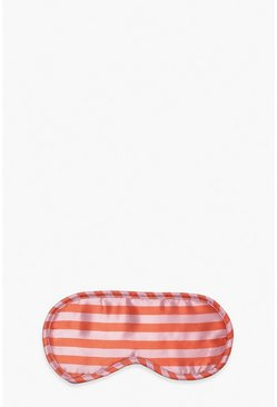 Hot pink pink Candy Stripe Satin Eyemask