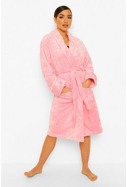 Pink Star Print Dressing Gown
