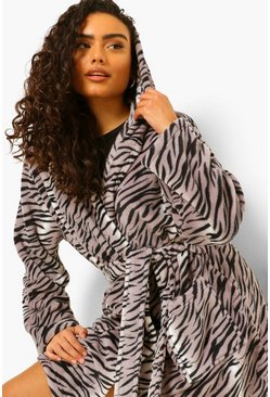 Silver Tiger Dressing Gown