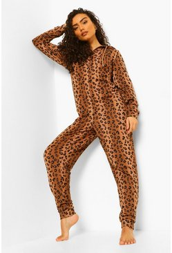 Onesie léopard, Brown marron