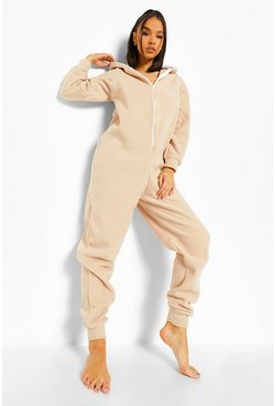 Black Fleece Zip Up Onesie
