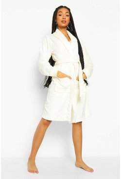 Cream white Fluffy Dressing Gown