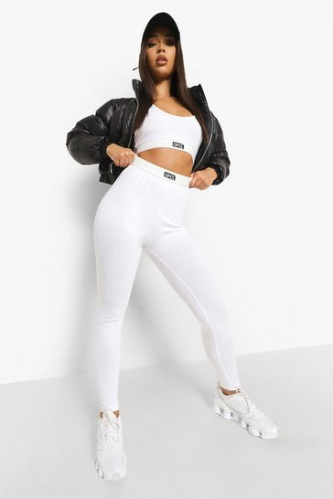 White Official Jersey Lounge Leggings