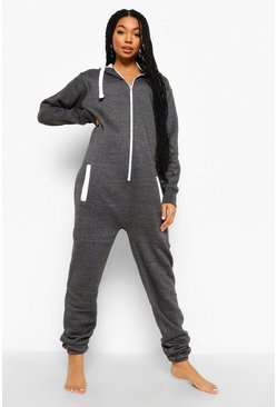 Charcoal grey Loopback Onesie