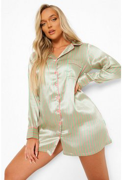 Green Candy Stripe Nightshirt