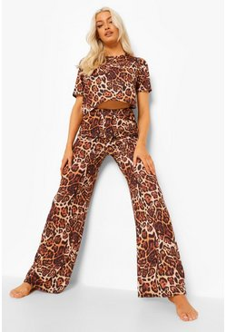 Brown Leopard Mix N Match Pyjama Bottoms