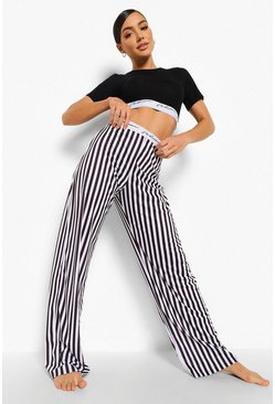 Black Woman Tape Mono Stripe Pyjamas