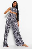 Black Zebra Mix N Match Pyjama Bottoms