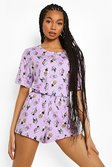 Lilac purple Disney Villains Mix & Match Pyjama Shorts