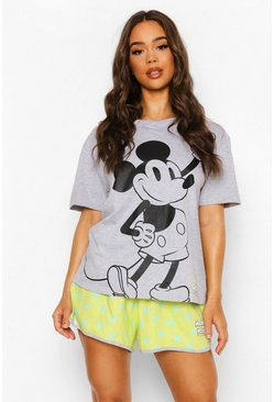 Lime green Disney Mickey Pyjama Short Set