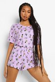 Lilac purple Disney Villains Mix & Match Pyjama Top