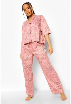 Pink Animal Print Short Sleeve Pj Set