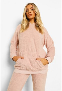 Blush Teddy Fleece Lounge Hoodie