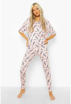 Pink Tall Lightening Bolt T-shirt & Legging Pj Set