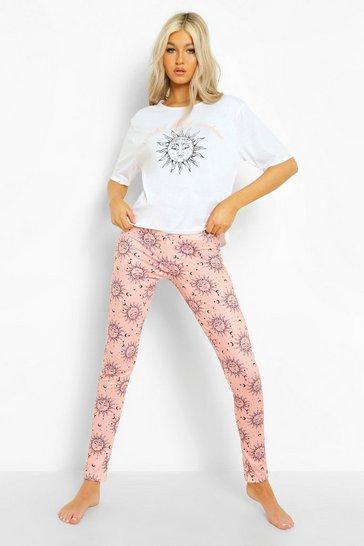 Pink Tall Sun & Moon T-shirt & Legging Pj Set