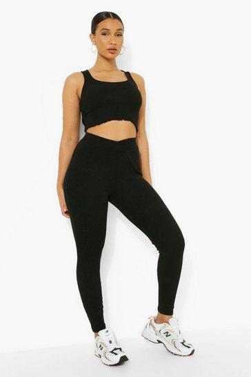 Black Ofcl Premium Rib Lounge Leggings