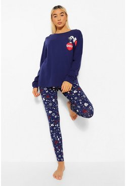 Navy The Grinch Christmas Long Sleeve PJ Set