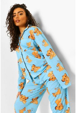 Disney Lion King Pj Shirt and Trouser Set, Blue azul