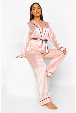 Pantalon de pyjama satin, Blush rose