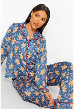 Black Mix and Match Gingerbread Man PJ Trousers