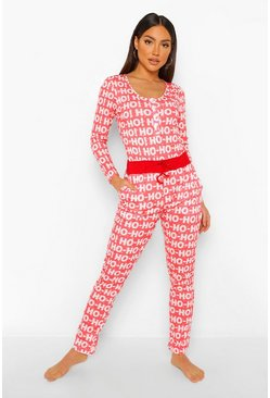 Red Mix and Match Ho Ho Ho PJ Bottoms