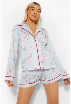 Blue Mix and Match Candy Cane PJ Shirt
