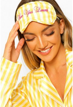 Yellow Know Your Lemons Charity Satin Eyemask