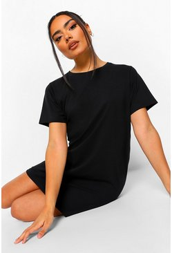 Black Basic Sleep Tee
