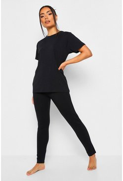 Black Basic Mix n Match PJ Top