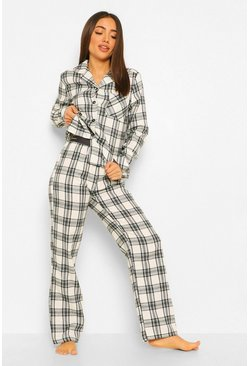 Black Woman Tape Flannel Christmas Pyjamas Trouser Set
