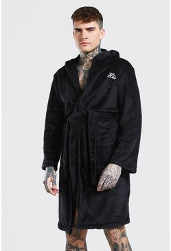 Black His Embroiderd Robe