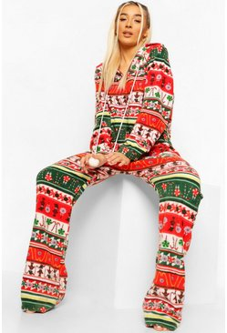 Multi Nutcracker Fleece Onesie