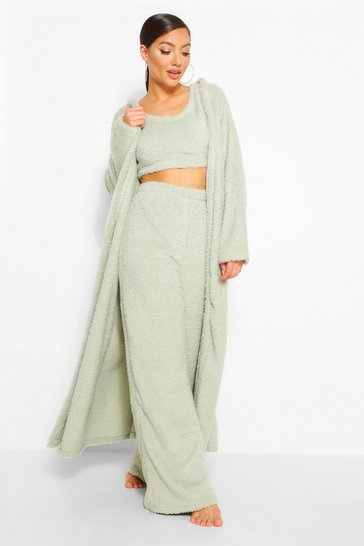 Sage green Cosy Knit Lounge Cardigan