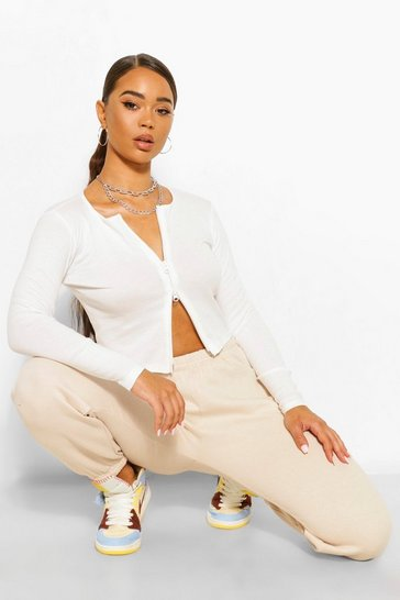 Stone beige Beige Basic Soft Mix & Match Lounge Joggers