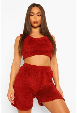 Cosy Knit Lounge Set in Rust