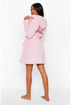 Pink Barbie Embroidered Fleece Dressing Gown