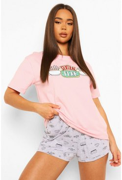Pink Friends Central Perk PJ Short Set