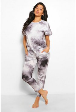 Black Tie Dye Lounge Set