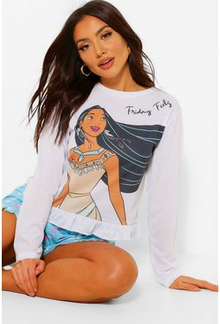 White Disney Pocahontas Friday Feels Frill PJ Short Set