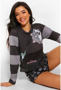 Black Disney Pocahontas Frill PJ Short Set