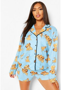 Disney Lion King PJ Shirt & Short Set, Blue azul