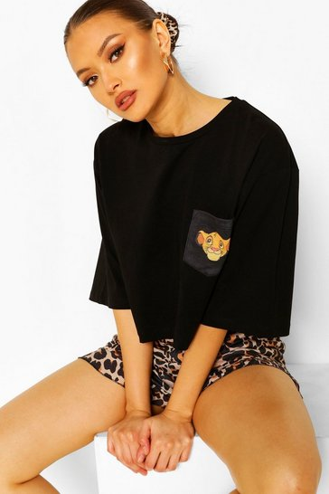 Black Disney Lion King PJ Short Set