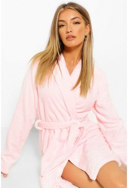 Blush pink Basic Short Robe