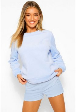 Blue Mix & Match Fleece Lounge Sweat