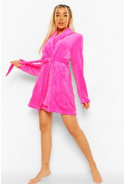 Hot pink rosa Basic Kort morgonrock