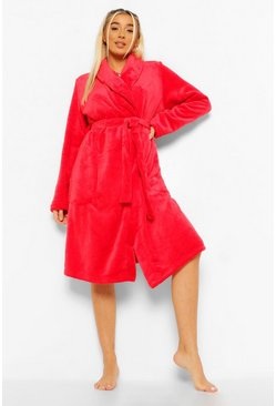 Red Basic Long Robe