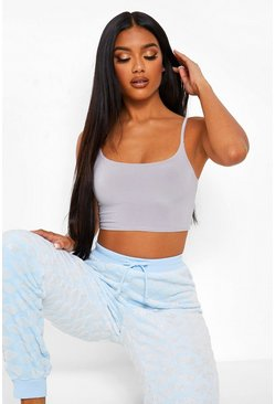 Blue Glitter Cloud Fleece PJ Bottoms
